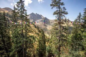 Balancieren hoch über dem Zillertal