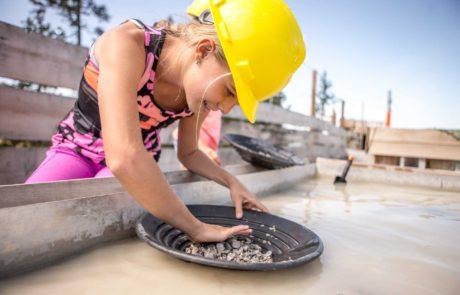Auswaschen der Steine