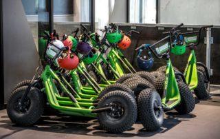 Roller & Carts für unsere Downhillstrecke