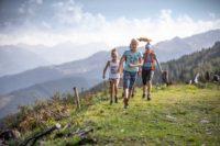 Wandern durch die Berglandschaft