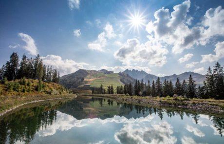 Einzigartiges Berg- und Seenpanorama